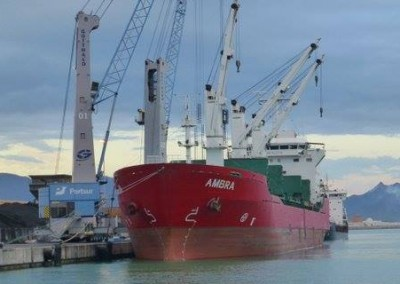AMBRA in Castellon loading Petcoke bound for the Red Sea